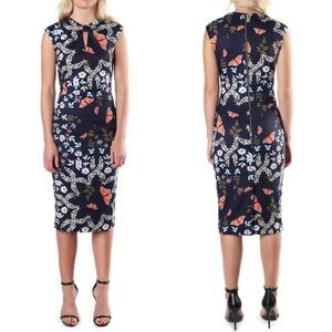 Ted Baker Kairra Kyoto Gardens Bow Neck Dress